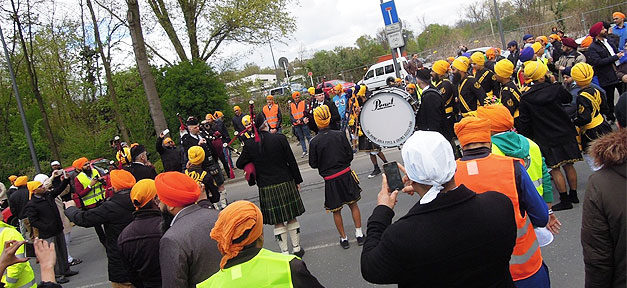 Sikh, Religion, Fest, Straße, Demonstration, Demo
