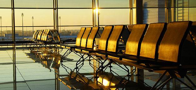 Flughafen, Sitze, Airport, Warten, Sitzen, Sonne