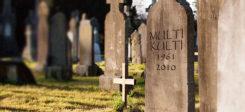 Grab, Grabstein, Friedhof, Tod, Multikulti