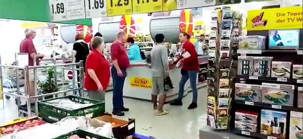 Flüchtling, Rassismus,Sachsen, Supermarkt
