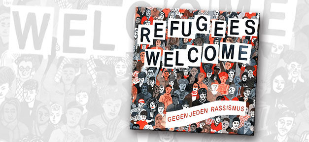 Refugees welcome, cd, musik, rassismus, refugess, welcome