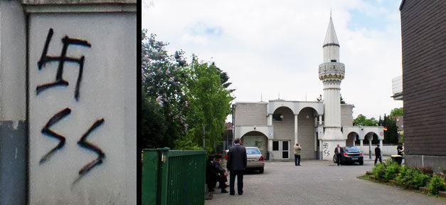 Moschee, Hakenkreuz, Rechtsextremismus, Straftat