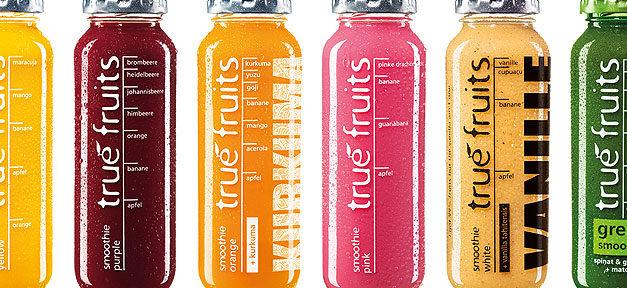 true fruits, Flasche, Getränk, früchte, trinken