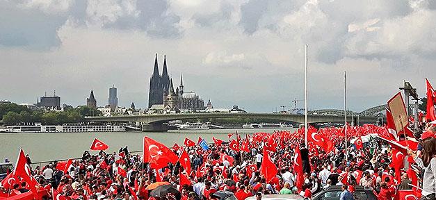 Demonstration, Türken, Türkei, Köln, Demo, Demokratie, Putsch