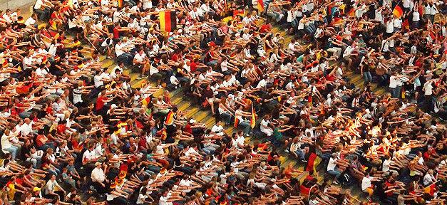 Fußball, Stadion, Fans, Fahnen, Deutschland