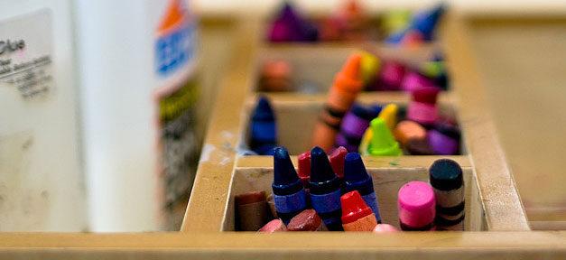 Malen, Kindergarten, Kita, Wachsmalstifte, Kinder
