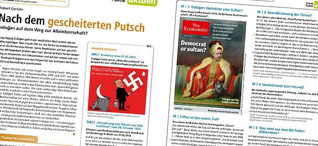 Schulunterricht - Lehrblätter vergleichen Erdoğan-Politik mit Nazi ...