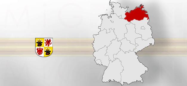 Mecklenburg-Vorpommern, Land, Bundesland, Deutschland, Karte