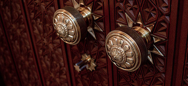 Moschee, Tür, Türklinke, Tag der offenen Moschee, Verzierung