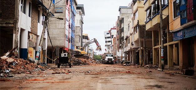 Ecuador, Erdbeben, Stadt, Straße, Armut