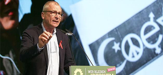Volker Beck, Rede, Münster, Mikrofon, Pult, Religionspolitischer Sprecher, Die Grünen