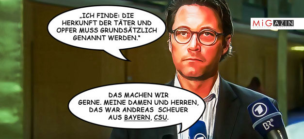Comic, Andreas Scheuer, Karikatur, Pressekodex
