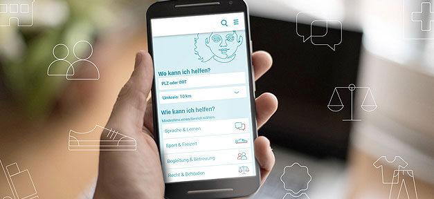 App, Handy, Telefon, Hand, Flüchtlinge, Willkommen