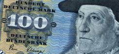 Deutsche Mark, 100, Banknote, Geld, DM