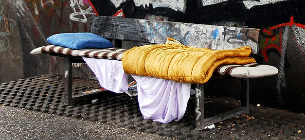 Obdachlosigkeit, Penner, Schlafen, Decke, Armut, Schlafplatz
