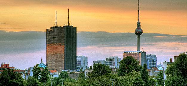 Berlin, Fernsehturm, Stadt, Panorama, City, Hauptstadt