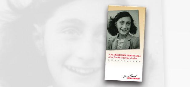 Anne Frank, Ausstellung, Antisemitismus, Rassismus, Flyer, Cover, Anne Frank Zentrum