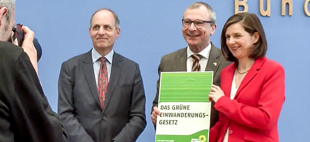 Prof. Thomas Groß, Volker Beck, Katrin Göring-Eckardt, Einwanderungsgesetz, Die Grünen