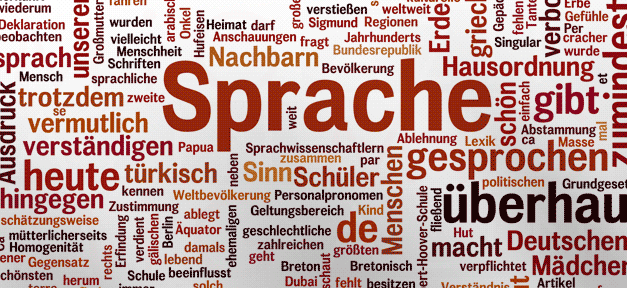 Sprache, Wörter, Wortwolke, Deutsch
