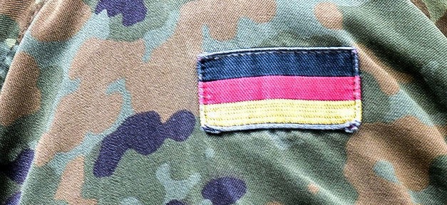 Bundeswehr, Soldat, Uniform, Deutschland, Flagge, Fahne