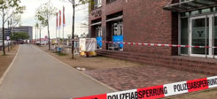 Duisburg, Café Vivo, Polizei, Polizeiabsperrung, Mord