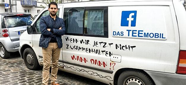 Teemobil. Flüchtlinge, Hilfe, Hamburg, Initiative