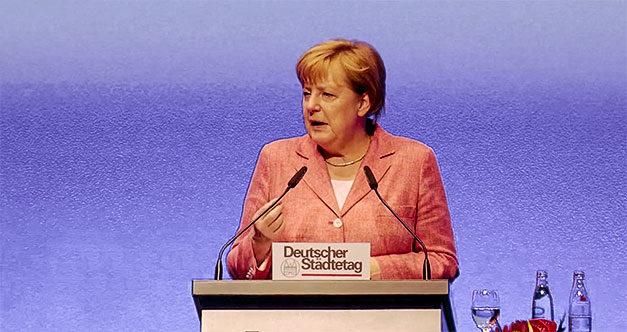 Angela Merkel, Merkel, Bundeskanzlerin, Städtetag, Rede