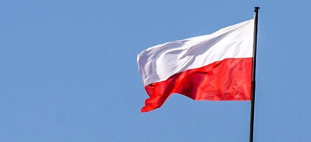 Polen, Flagge, Fahne, Mast, Polnisch