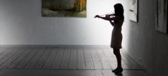 Kunst, Geige, Musik, Mensch, Galerie