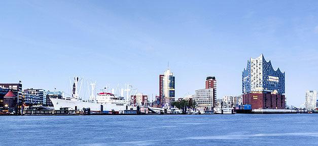 Hamburg, Stadt, Elbphilarmonie, Skyline, Hafen