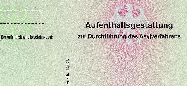 Asylverfahren, Asyl, Aufenthaltstitel, Aufenthaltsgestattung