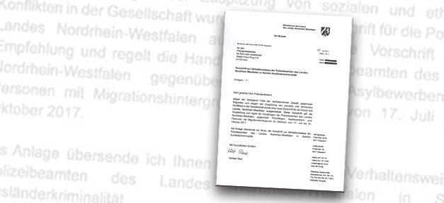 Brief, Fake, Innenministerium, NRW, Ausländer, Migranten, Hetze