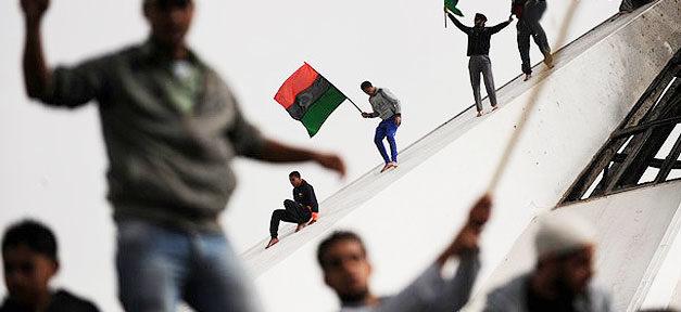 Libyen, Demonstration, Gaddafi, Sturz, Krieg, Migration, Flüchtlinge