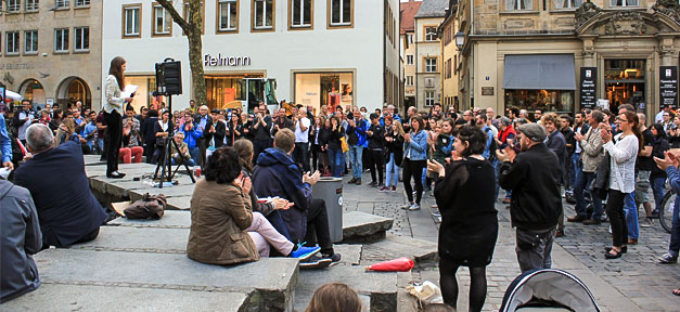 Mahnwache, Bamberg, Demonstration, Demo, Afghanistan