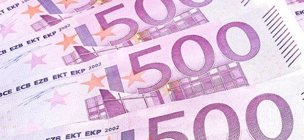 Euro, Geld, Geldschein, Banknote, 500, Reichtum