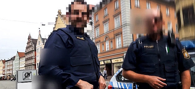 Polizei, Uniform, Streife, Ordnungshüter, Polizisten