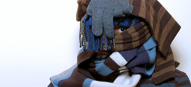 Schal, Winter, Kälte, Handschuh, Gesicht, Vermummung, Gesichtsvermummung