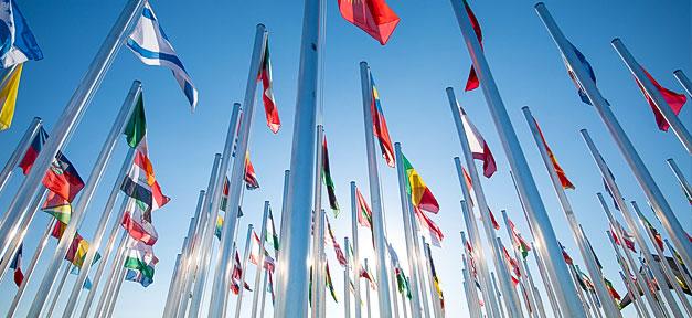 Flagge, Fahne, International, Vereinte Nationen, UN, Staaten