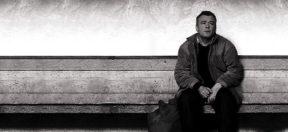 Obdachlosigkeit, Armut, Parkbank, Sitzen, Mann
