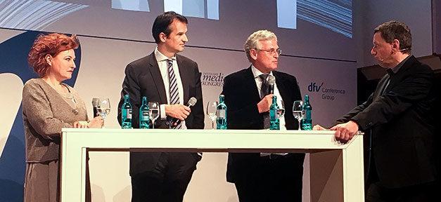Deutscher Medienkonferenz 2018, Medien, Journalisten, Brinkbäumer, Frey, Rückert