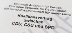 GroKo, Koalitionsvertrag, Union, SPD, CDU, CSU