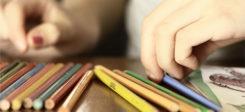 Schule, Schüler, Stift, Bildung, Hände, Malen