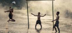 Fussball, Fallrückzieher, Sport, Tor, Wasser, Torwart