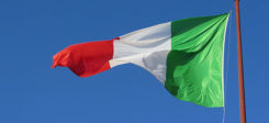 Italien, Fahne, Flagge, Mast, italienisch