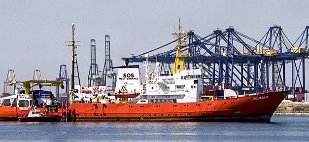 Aquarius, Rettungsschiff, Flüchtlinge, Mittelmeer, SOS Mediterranee