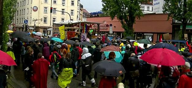 ausgehetzt, München, Demonstration, Demo, CSU, Menschen, Flüchtlingspolitik