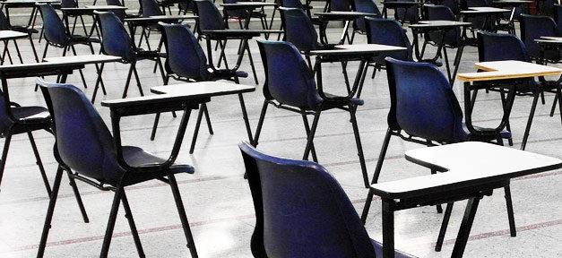 Stühle, Klasse, Prüfung, Klausur, Unterricht, Schule