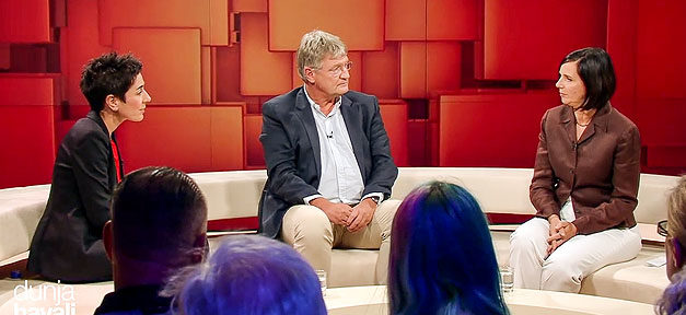 Dunja Hayali, Katrin Göring-Eckardt, Jörg Meuthen, TV, Fernsehen, ZDF