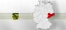 Sachsen, Karte, Deutschland, Bundesland, Bundesrepublik