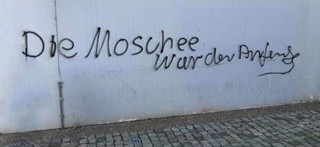 Islamfeindlichkeit, Moschee, Islam, Muslime, Schmiererei, Rechtsextremismus